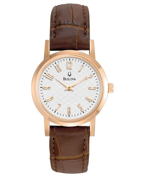 Womens Brown Leather Watch Womens Gold Watch Brown Leather Strap