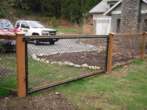 Wood And Chain Link Fence Diy How To
