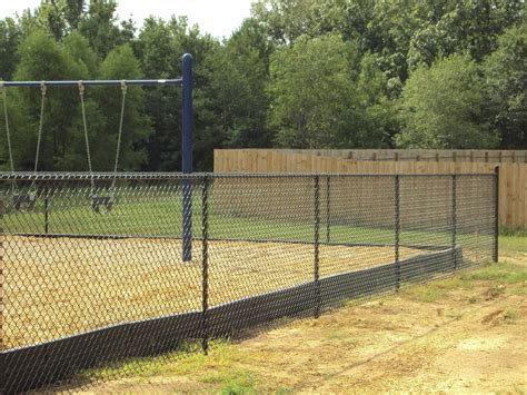 Wood And Chain Link Fence Diy Installation