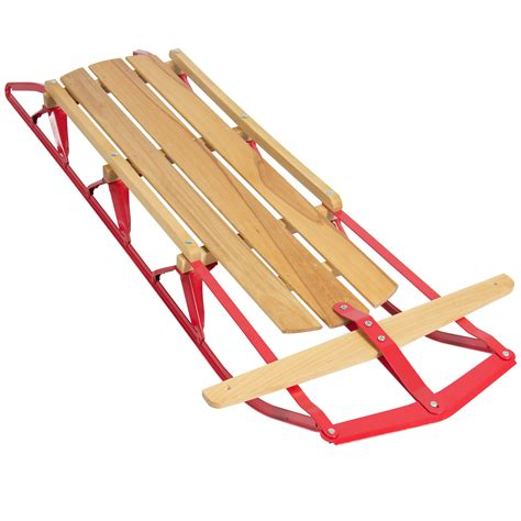 Wood Baby Sleds With Runners