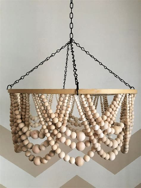 Wood Bead Chandelier Diy Ideas