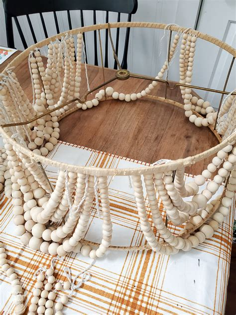 Wood Bead Chandelier Diy Projects