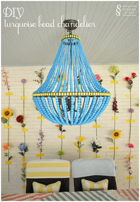 Wood Bead Chandelier Diy Tutorial