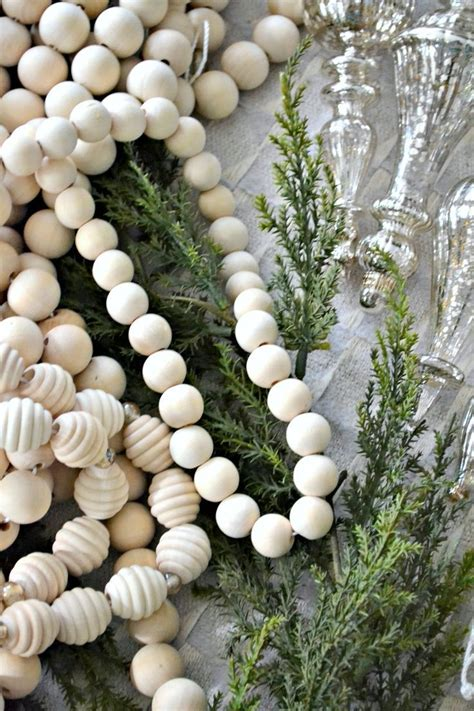 Wood Bead Garland Diy Christmas