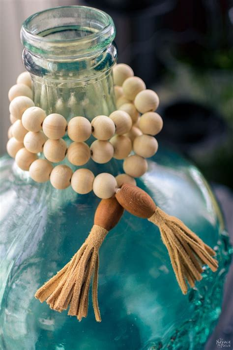 Wood Bead Garland Diy To Make