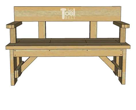 Wood Bench With Back Plans