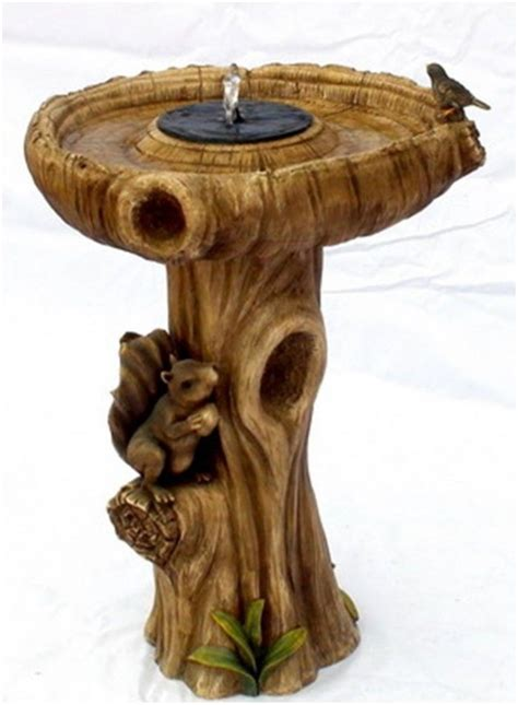 Wood Bird Bath Ideas