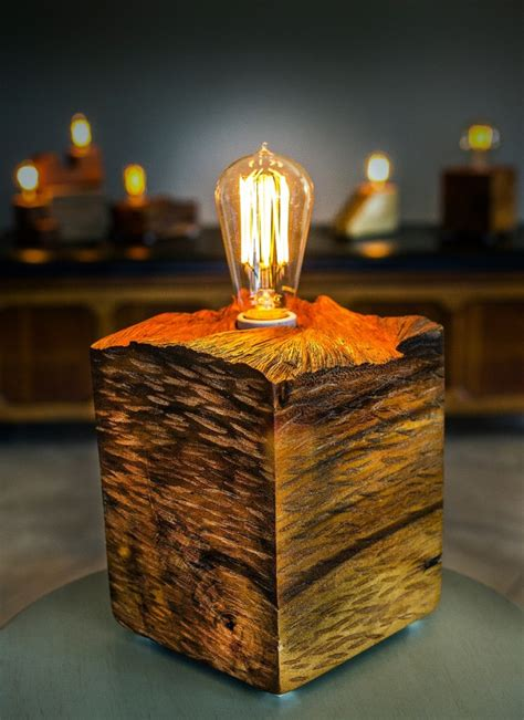 Wood Block Lamp Diy Miniature