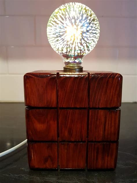 Wood Block Lamp Diy Projects