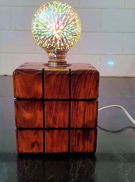 Wood Block Lamp Diys