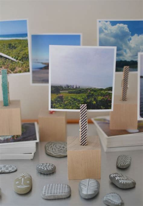 Wood Block Photo Holder Diy