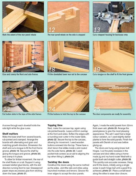 Wood Bookcase Plans Shaker