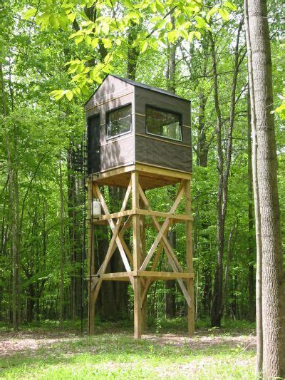Wood Bow Elevated Hunting Stand Plans