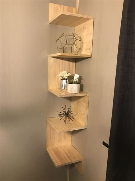 Wood Box Shelf Diy Corner