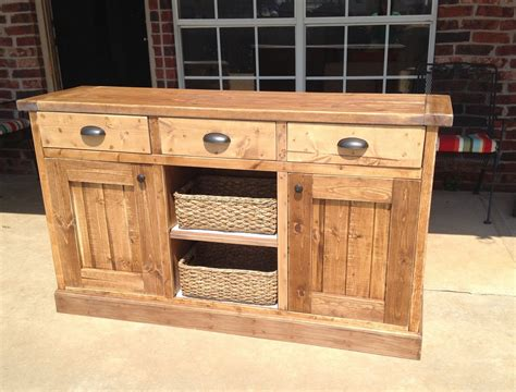 Wood Buffet Table Plans