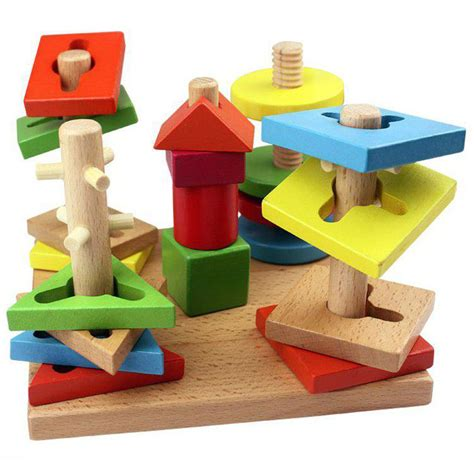 Wood Building Blocks For Kids Toys