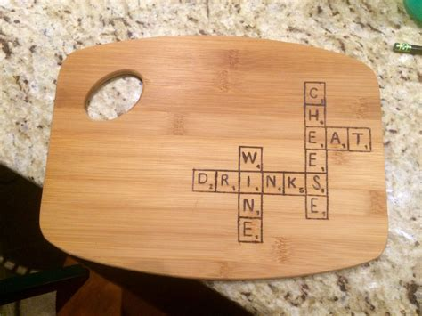 Wood Burned Cheese Board DIY