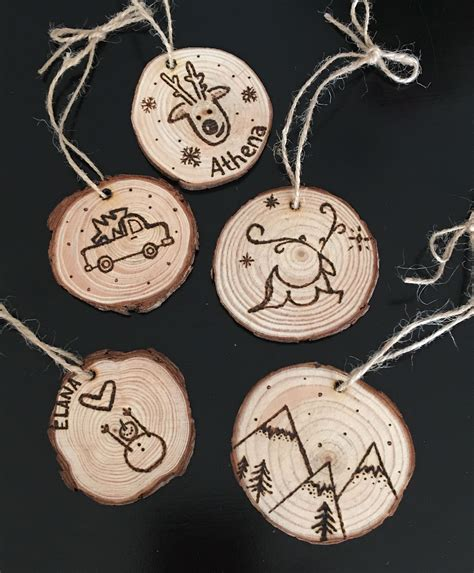 Wood Burned Ornaments Diy Ideas