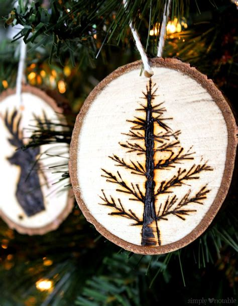 Wood Burned Ornaments Images