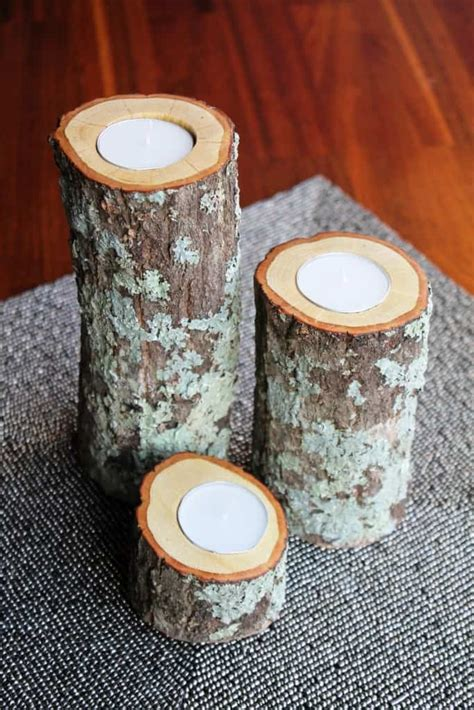 Wood Candle Holders Diy