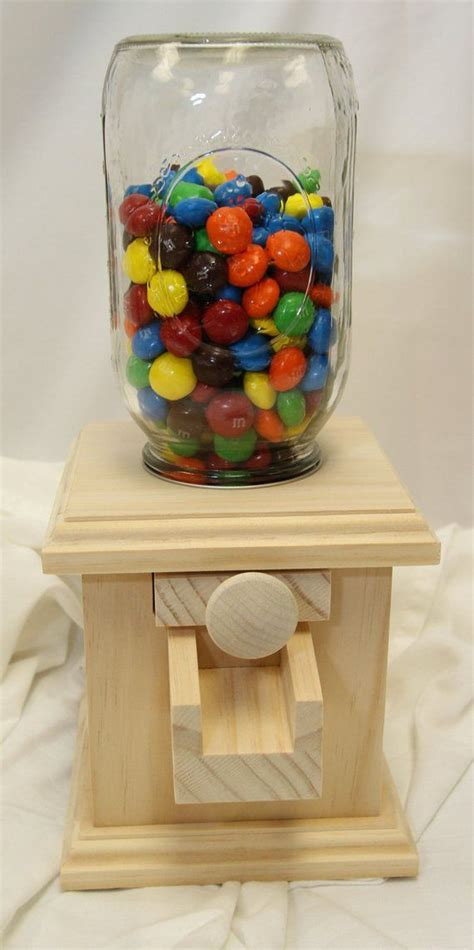 Wood Candy Dispenser Colored Diamonds