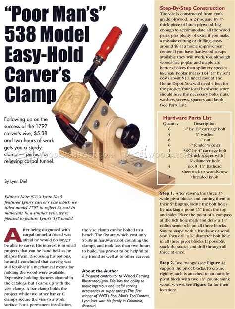 Wood Carving Vise Plans