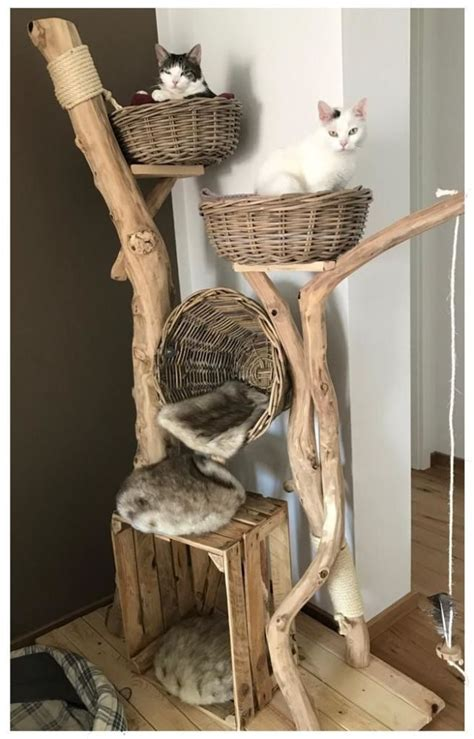 Wood Cat Tree Diy