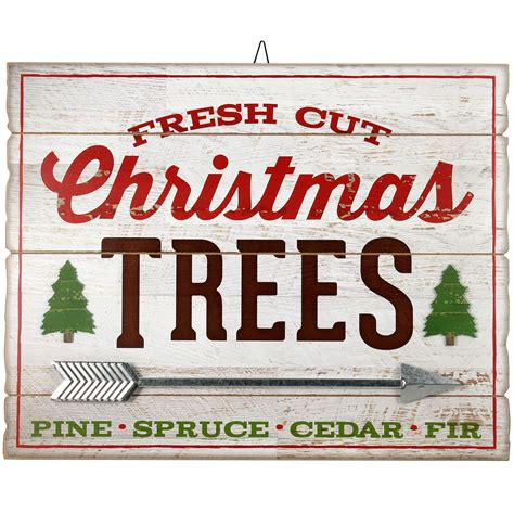 Wood Christmas Distressed Signs