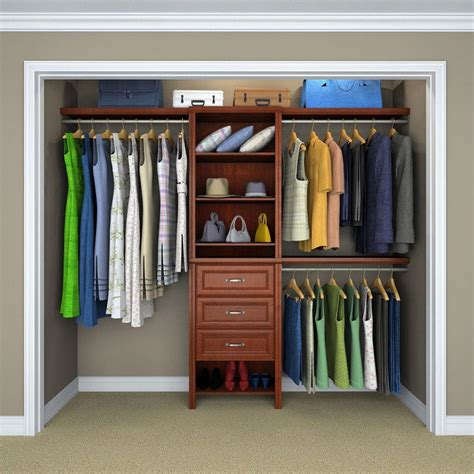 Wood Closet Systems In Alderwood
