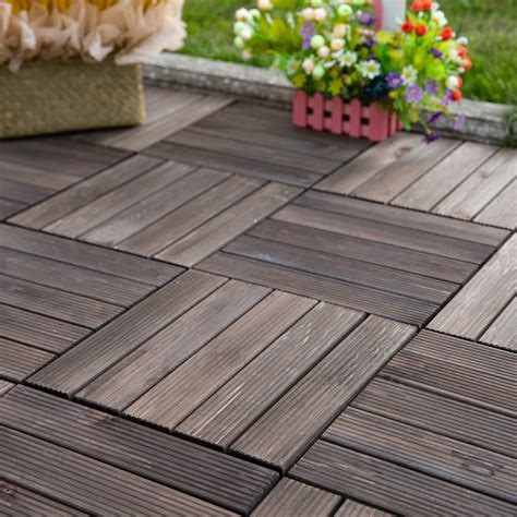 Wood Composite Diy Deck Tiles