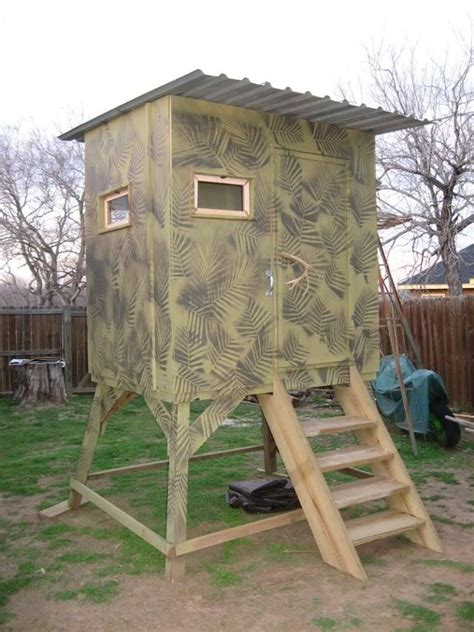Wood Cool Box Deer Stand Ideas