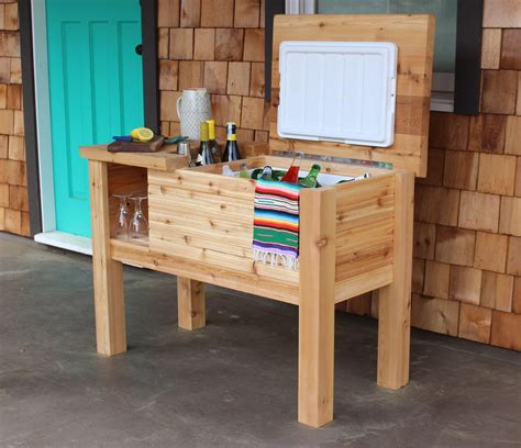 Wood Cooler Table Plans