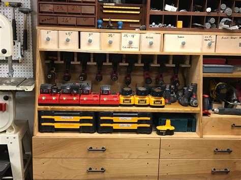 Wood Cordless Tool Station