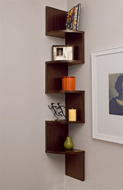 Wood Corner Shelves Wall Mounted