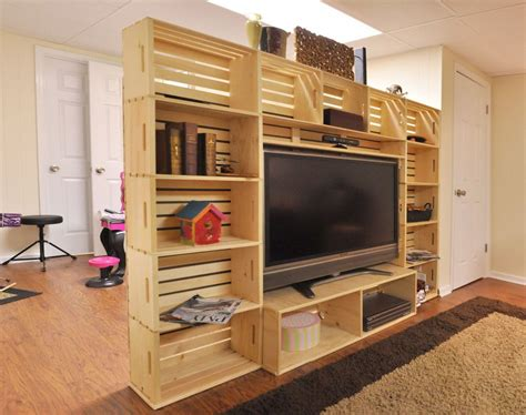 Wood Crate Entertainment Center Diy Pallet