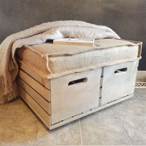 Wood Crate Ottoman Diy For 52