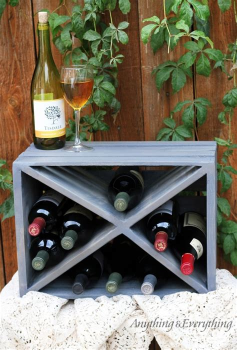Wood Crate Wine Rack Diy