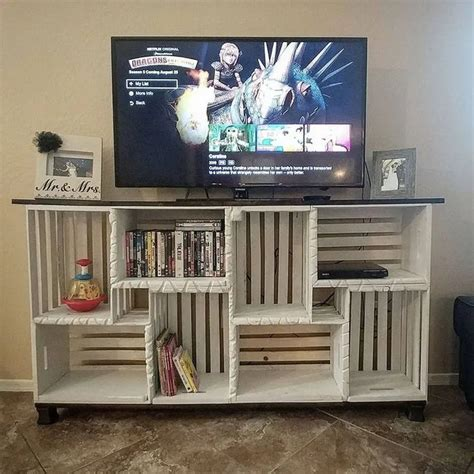 Wood Crates Tv Stand DIY