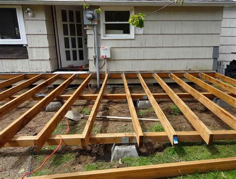 Wood Deck Framing Plans