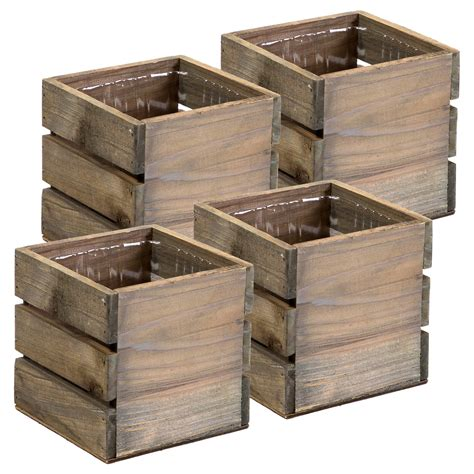 Wood Design Plastic Crates Walmart