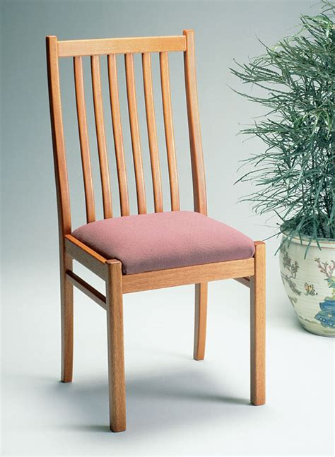 Wood Dining Chair Plan View