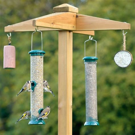 Wood Diy Bird Feeder On A Post