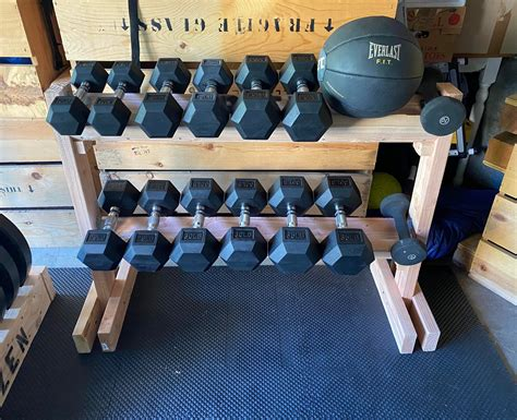 Wood Diy Dumbbell Rack