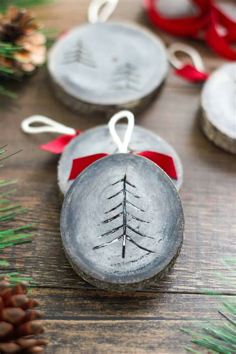 Wood Diy Ornaments Christmas