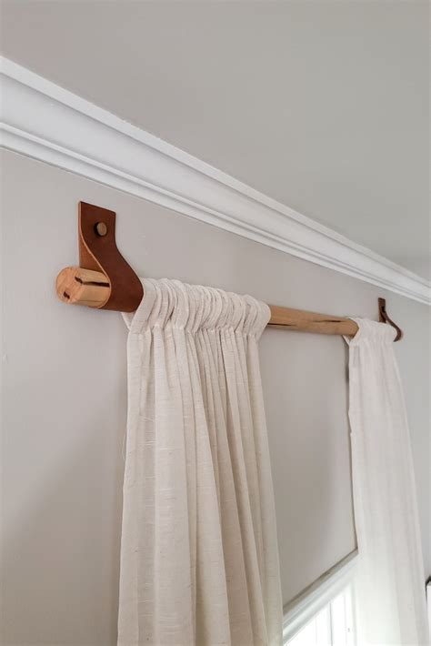 Wood Dowell Curtain Rods Diy