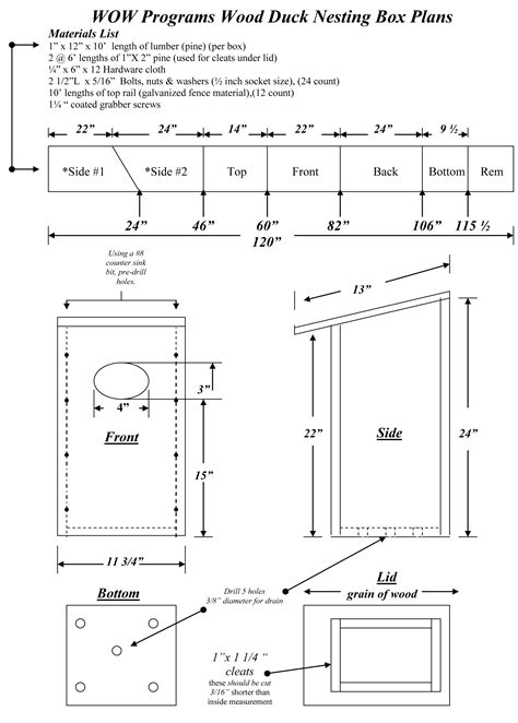 Wood Duck Box Plans Free Printable