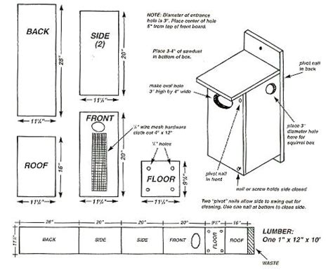Wood Duck House Plans Instructions