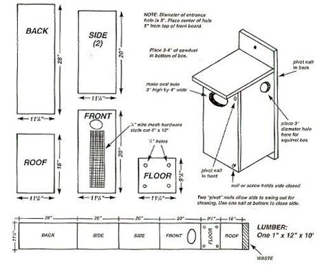 Wood Duck House Plans Instructions For Form