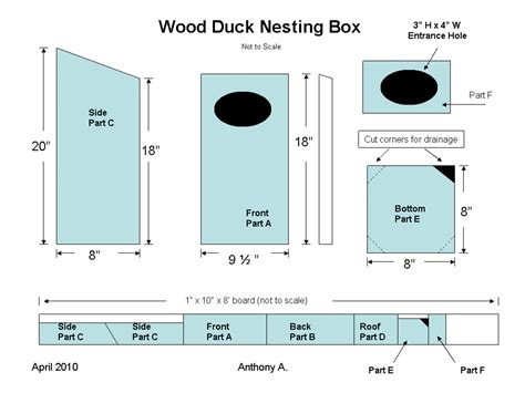 Wood Duck Nesting Box Plans