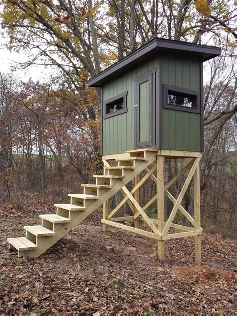 Wood Elevated Homemade Hunting Stand Plans